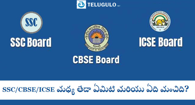 SSC CBSE ICSE in Telugu